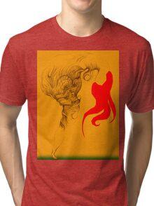Hot Red Vestle Tri-blend T-Shirt
