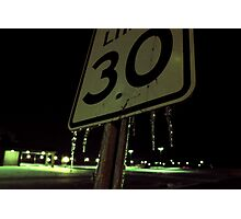 speed limit ice sign Photographic Print