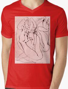 Insomubus Mens V-Neck T-Shirt