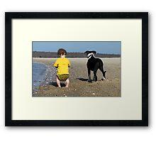 Snakes and snails and puppy dog tails Framed Print