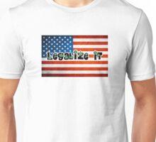 Legalize it american flag Unisex T-Shirt