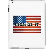 Legalize it american flag iPad Case/Skin