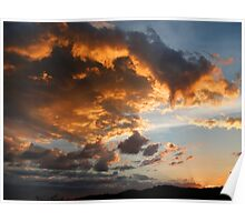 Ominous Clouds at Sunset Poster