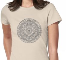 Rain in the Garden - grey and cream Womens Fitted T-Shirt