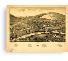 Panoramic Maps Windsor NY 1887 Canvas Print