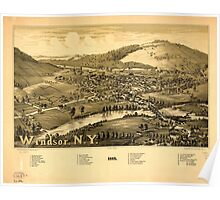 Panoramic Maps Windsor NY 1887 Poster