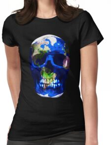 Earth Skull  Womens Fitted T-Shirt