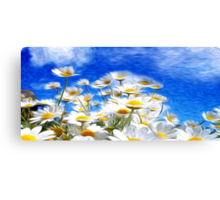 Summer Flowers Oil Painting Canvas Print