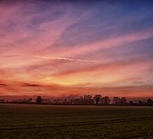 Countryside Sunset Skies by Vicki Field