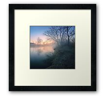 Spring mystery of the river Framed Print
