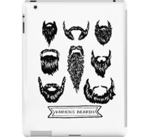 Field guide to beards - Various Beards iPad Case/Skin
