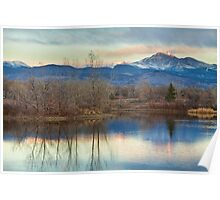 Longs Peak Morning View From Golden Ponds Poster