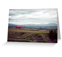 A Disrepaired Red Shack in countryside Hokkaido, Japan Greeting Card