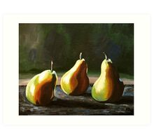 Three Pears and Their Shadows Art Print