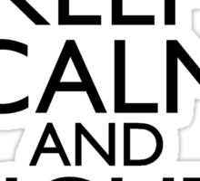 Keep Calm and Fight On Black and White Sticker
