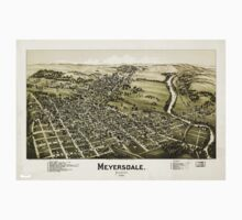 Panoramic Maps Meyersdale Pennsylvania One Piece - Long Sleeve
