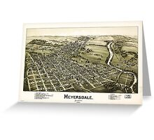 Panoramic Maps Meyersdale Pennsylvania Greeting Card