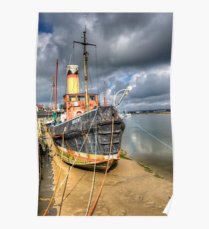 Old Ship In Maldon Harbour Poster