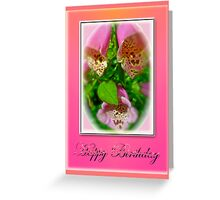 Happy Birthday Card - Foxgloves Greeting Card