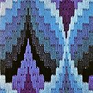 Blue Bargello Flame by BettyBanana