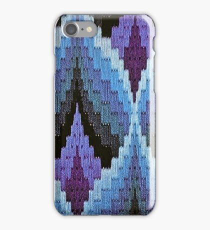 Blue Bargello Flame iPhone Case/Skin
