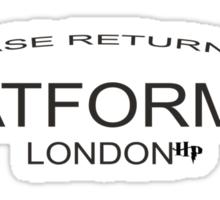 Please Return to Platform 9 3/4 Sticker