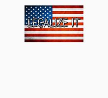 Legalize It American Flag 3 Unisex T-Shirt