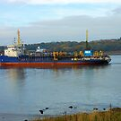 Ship Entering The River Tyne by MidnightMelody