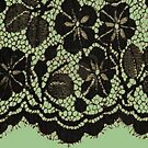 Black lace on green by BettyBanana