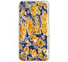 Orange marble abstract iPhone Case/Skin