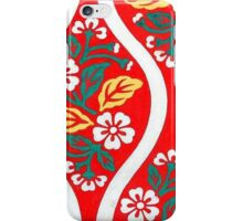 Japanese Red Flower  iPhone Case/Skin