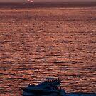 Yacht in the last Glimp of the Sun - Barco en la ultima Luz del Sol by PtoVallartaMex