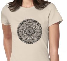 Rain in the Garden - black and white Womens Fitted T-Shirt