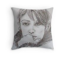 Study for Those Green Eyes Throw Pillow