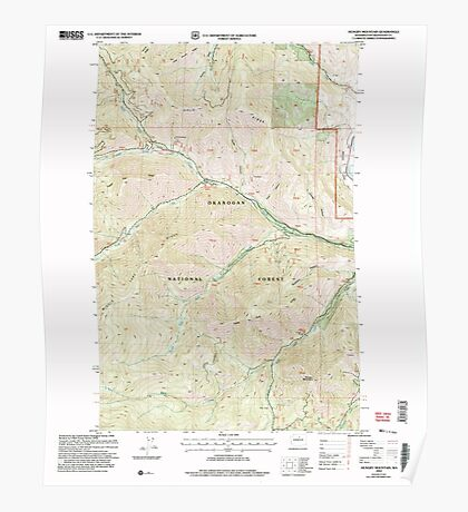 USGS Topo Map Washington State WA Hunger Mountain 241613 2002 24000 Poster