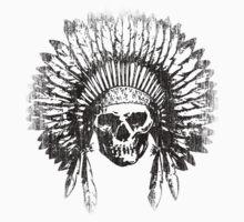 Vintage Chief Skull Design Kids Tee
