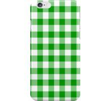 Green gingham iPhone Case/Skin