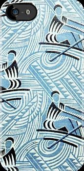 Rowing Soviet fabric c. 1920-1930 by BettyBanana