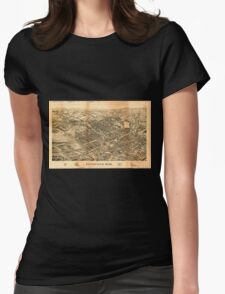 Panoramic Maps Pittsfield Mass Womens Fitted T-Shirt