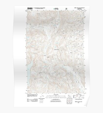 USGS Topo Map Washington State WA Spirit Lake East 20110901 TM Poster