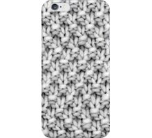 B&W Moss Stitch Crochet iPhone Case/Skin