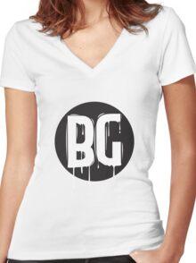 Borgore Women's Fitted V-Neck T-Shirt