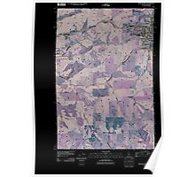 USGS Topo Map Indiana ID Moscow West 20110406 TM Inverted Poster