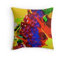 Artistic Grape Vine Throw Pillow