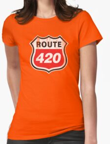 Vintage Route 420 Womens Fitted T-Shirt