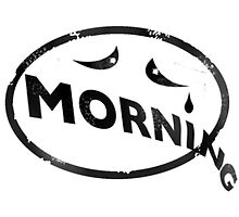 Morning Stamp Sticker by Mark S Waterhouse