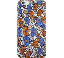 Vintage Daisies in Orange and Blue iPhone Case/Skin