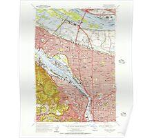 USGS Topo Map Oregon OR Portland 281130 1954 24000 Poster