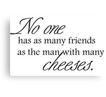 Cheese Friends black for high necked Canvas Print