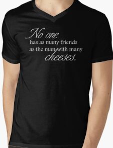 Cheese Friends white for low necked Mens V-Neck T-Shirt